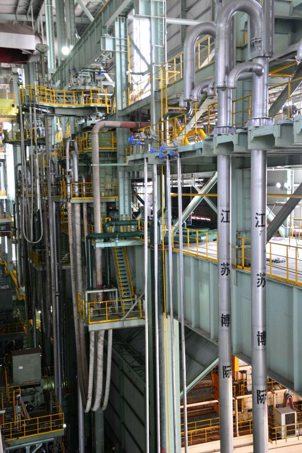 宝钢湛江350吨转炉氧枪投入使用2